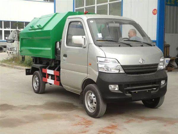 长安3方勾臂式垃圾车(汽油)