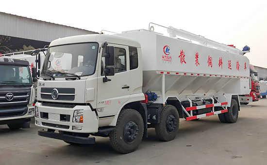 东风天锦小三轴饲料运输车(30立方)