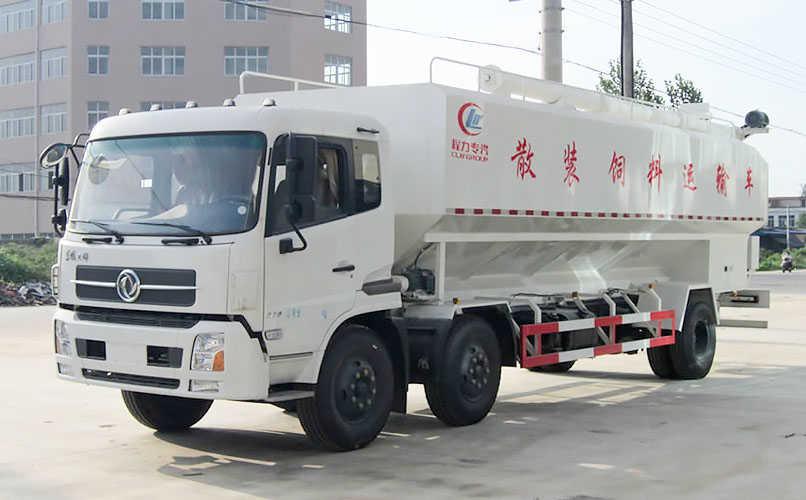 东风天锦小三轴饲料车图片