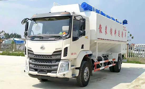 柳汽乘龙散装饲料运输车(28立方)