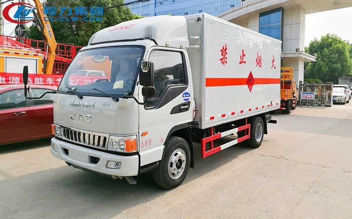 江淮骏铃厢式气瓶运输车(4.14米)