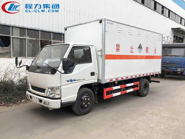 江铃杂项危险物品厢式运输车(4.2米)