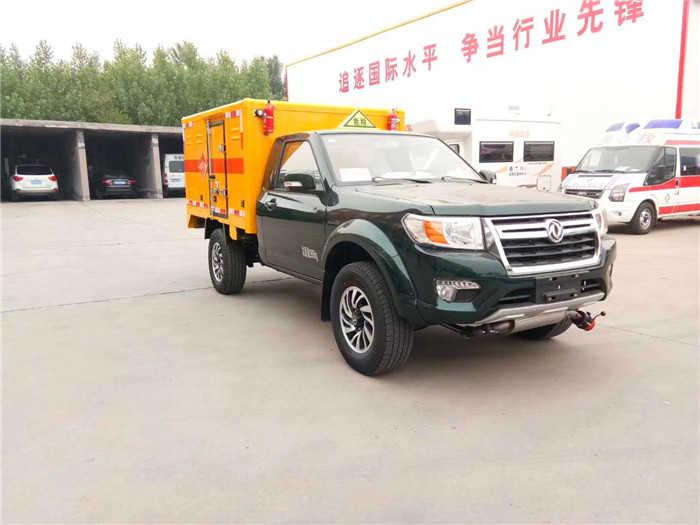 东风日产四驱皮卡爆破器材运输车