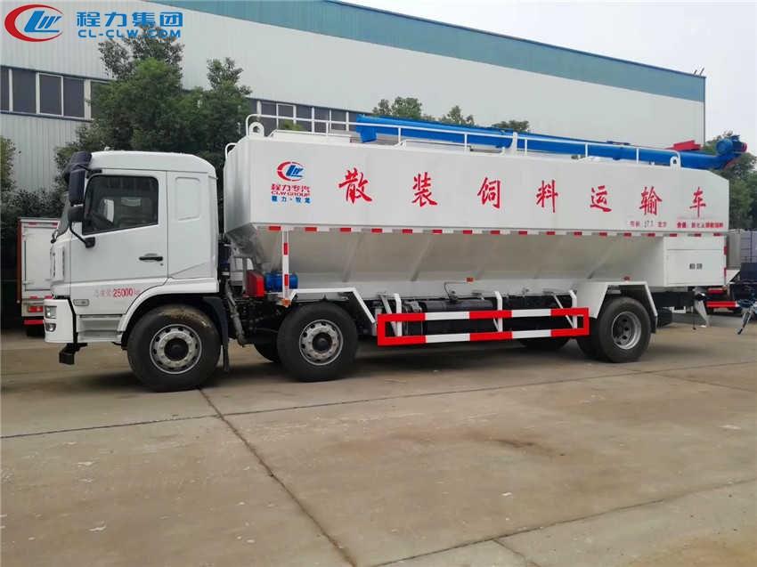陕汽30方饲料车,15吨饲料车白色版