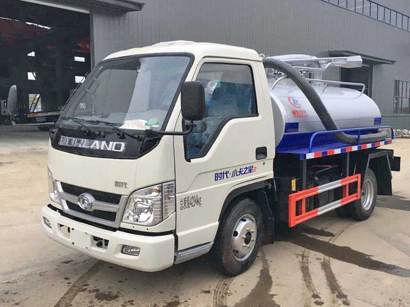 福田时代小卡2.5吨吸粪车(蓝牌)