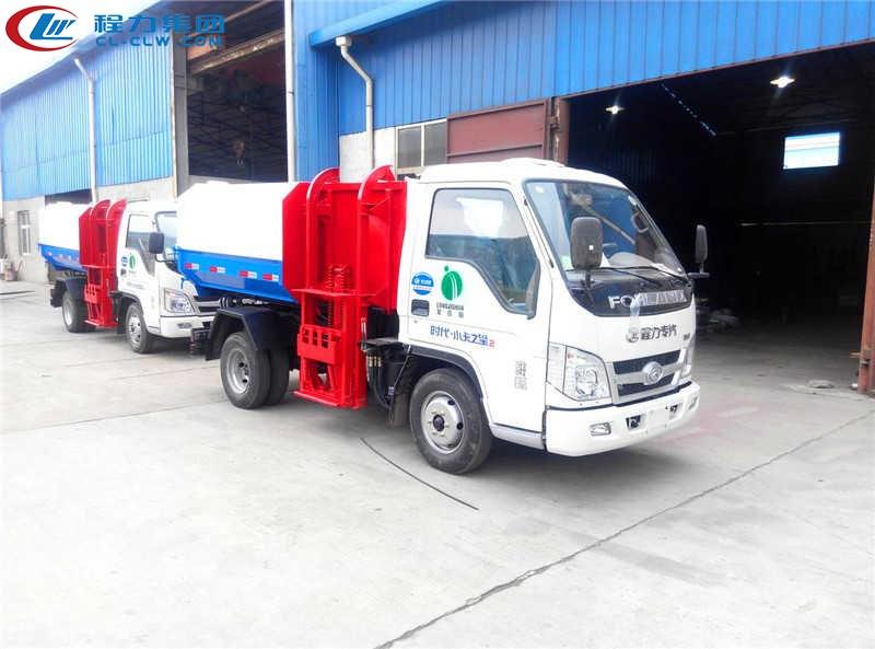 福田小卡之星2挂桶式垃圾车(4方)