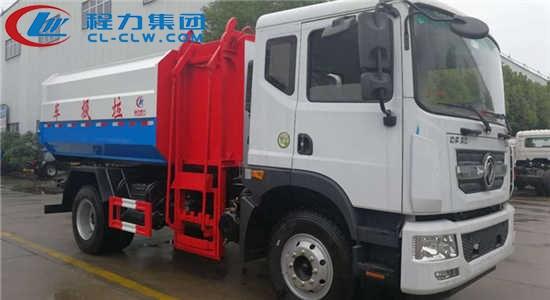 东风多利卡D9挂桶式垃圾车(10~12方)