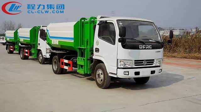 东风多利卡D5挂桶式垃圾车(4方)