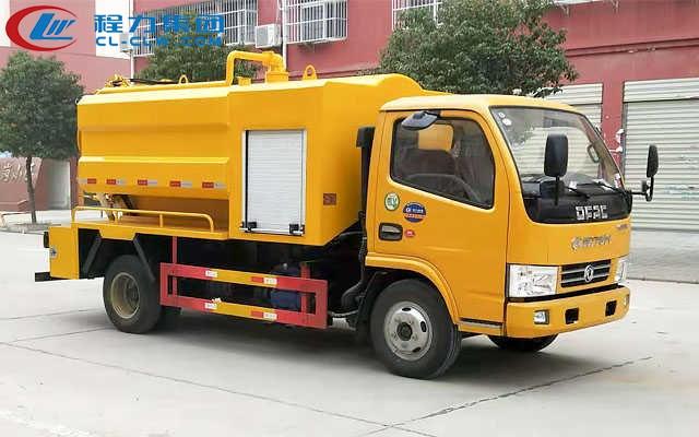 东风新款蓝牌清洗吸污车