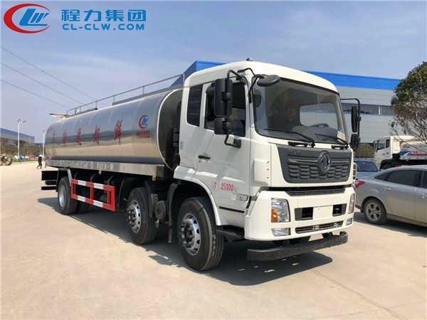 东风天锦小三轴鲜奶运输车详细配置: