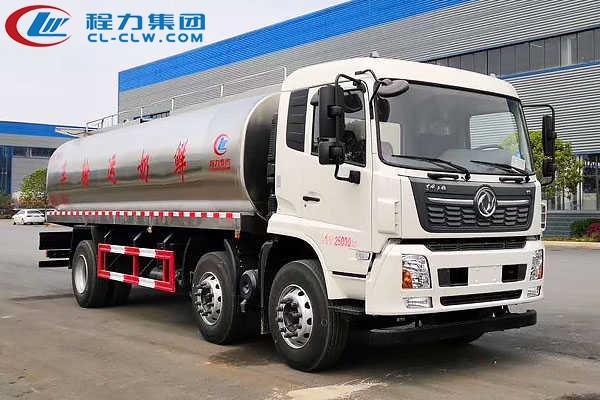 东风天锦前四后四鲜奶运输车(20方)