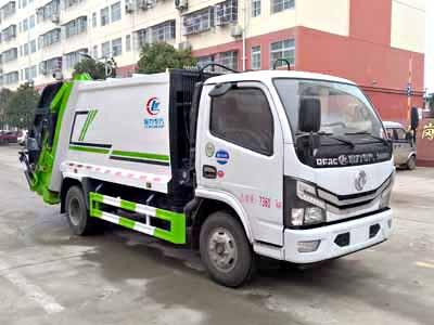 东风小多利卡国六压缩式垃圾车(6方)