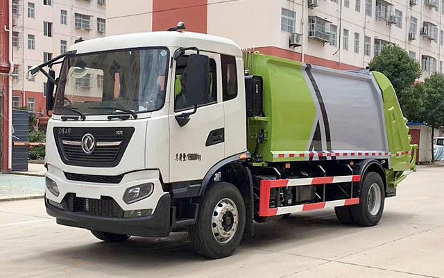 国六东风天锦压缩式垃圾车