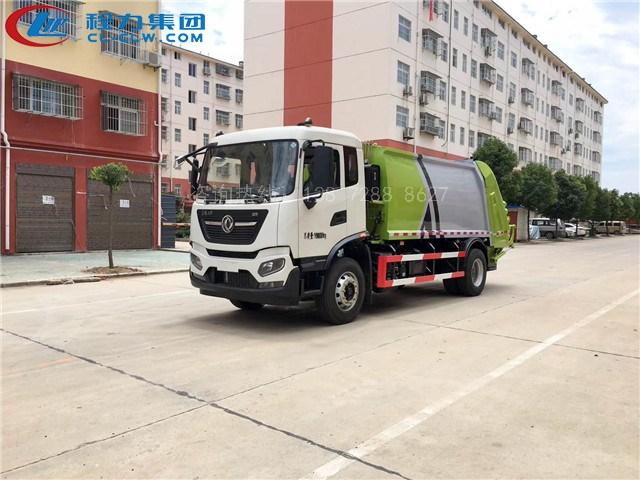 程力高端智能型压缩垃圾车——国六东风天锦压缩垃圾车上市