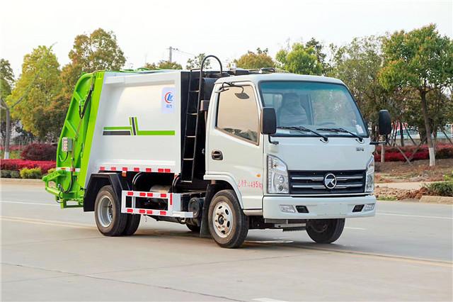 国六凯马蓝牌压缩式垃圾车(4方)