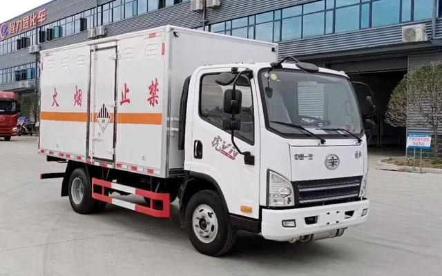 解放虎V蓝牌杂项危险物品厢式运输车(4.1米)