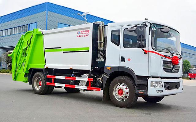 东风多利卡D9压缩式垃圾车(10~12方)