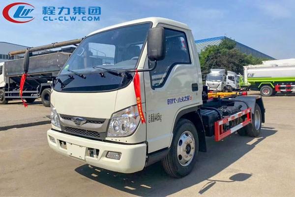 福田小卡之星3车厢可卸式垃圾车(4方)
