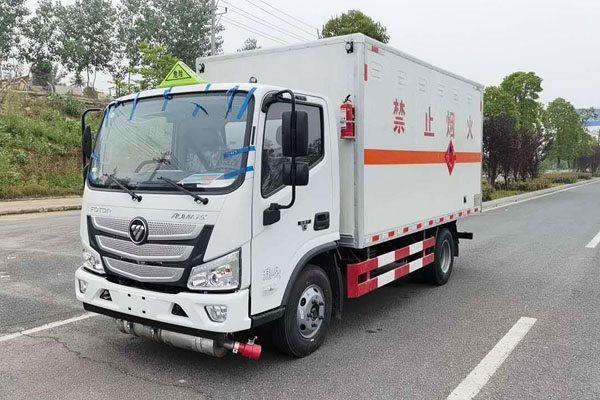 福田欧马可易燃气体厢式运输车(4.1米)