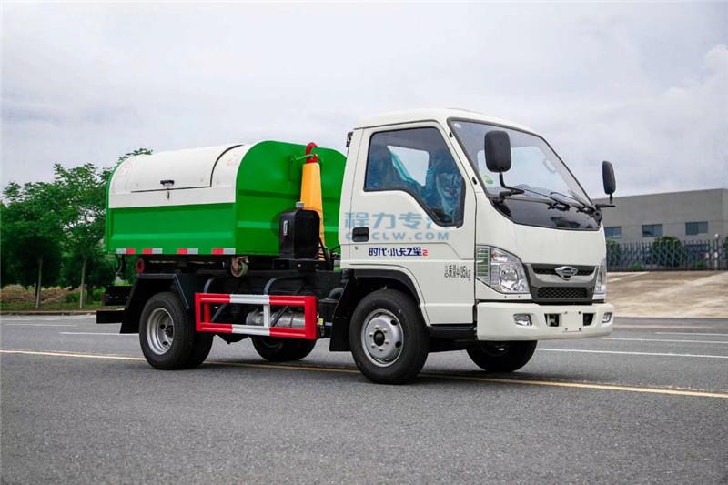 福田小卡之星2车厢可卸式垃圾车图片