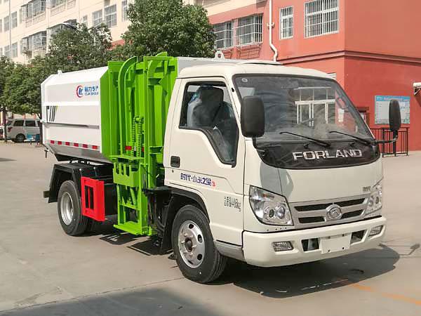 福田小卡之星3挂桶式垃圾车(5方)